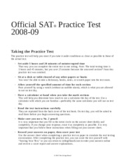 Official SAT 2008-2009 Practice test
