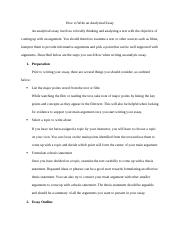 How to Write an Analytical Essay.docx