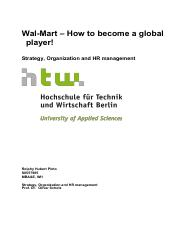 Wal-Mart - How to be come a global player!  Rolphy Pinto _S0557985