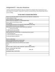 Assignment 8 - Education Worksheet.doc