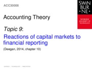 Topic 9 - Reactions of capital markets to financial reporting - Chapter 10(2)