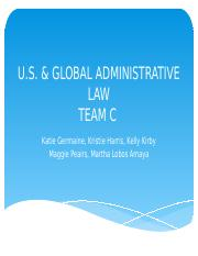 Team C-U.S. Global Administrative law-2