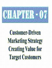 Chapter 07 - Creating Value for Target Customers.ppt