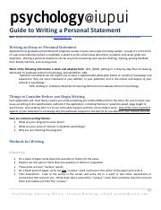 Writing a Personal Statement copy