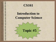 CS161_Topic#5