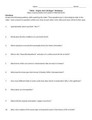 Video - Origin of life on earth question sheet.doc