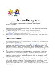 Childhood biting facts.docx