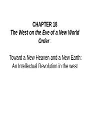 Chapter 18 the west on the eve of a new world order  brief 2014