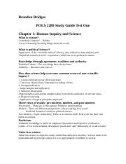 POLS2280 Study Guide Test 1