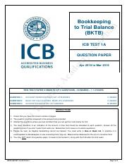 bookkeeping test