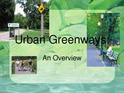 Lecture Note For TREN 3P18 Greenways, Tourism and Sustainable Transportation