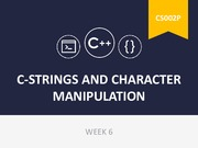 Week 6- C-strings and characters manipulation