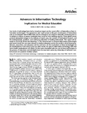 Technology and the Medical Industry Academic Source