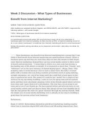 Week 2 Discussion - What Types of Businesses Benefit from Internet Marketing.docx