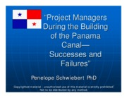 Project Managers of the Panama Canal