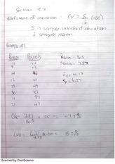 Coefficient of Variation Notes