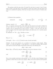 Quiz 2 Solution on Calculus I