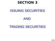 2015-FALL   I1   SECTION 3   Investment Banking and Trading(2)