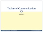 TechComm, Lecture 12 - Reports