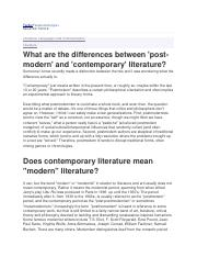 Contemporary Literature Explained - Contemporary literature is a ...