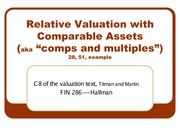 9 - Valuation Using Comps and Multiples