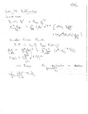 Lecture Notes O on Electricity and Magnetism