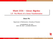Matrix of a Linear Transformation Review
