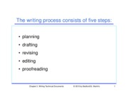 Chapter 3 - Understanding the Writing Process