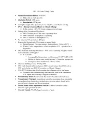 GES 120 Exam 2 Study Guide