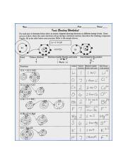 Ionic Bonding Worksheet Answers Of