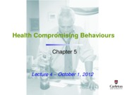 Lecture 4 - Health Compromising Behaviours