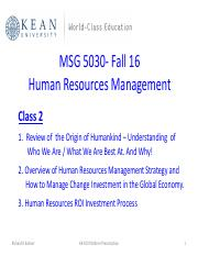 2 MSG 5030 -  HR Overview