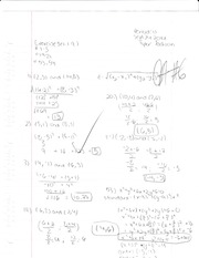Pre Calculus Exercise set 1.9