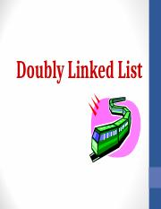 Doubly Linked Lists1