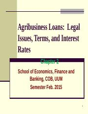 Chapter 2- Agribusiness Loans.ppt