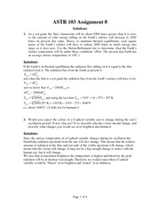 ASTR 103 Fall 2012 Assignment 8 Solutions