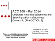 #02 FinCh2 MOODLE ACC200 Intro to Business Fall 14
