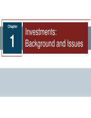 1_Investments Background&Issue