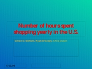 Number of hours spent shopping yearly in the