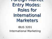 IBUS3201 Session 13- Foreign Market Entry(1)