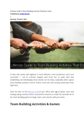 Ultimate Guide to Team Building Activities That Don