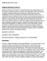 Religious Education in the U.S. Research Paper Starter - eNotes.pdf