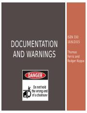 5.4_Documentation and Warnings_Warning design
