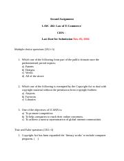 Law 402 Assignment 2 - Student Edition