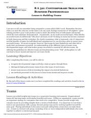 BA321 - Lesson 6 Online Notes