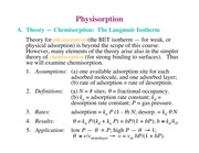 Chemistry 236_Lecture Notes on Physisorption