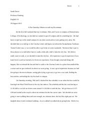 Personal Experience Essay 5th Draft