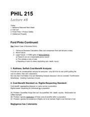 PHIL215-Ford Pinto Case Study
