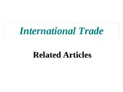 International+Trade+articles