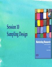 Updated session 10 - Sampling design.pdf